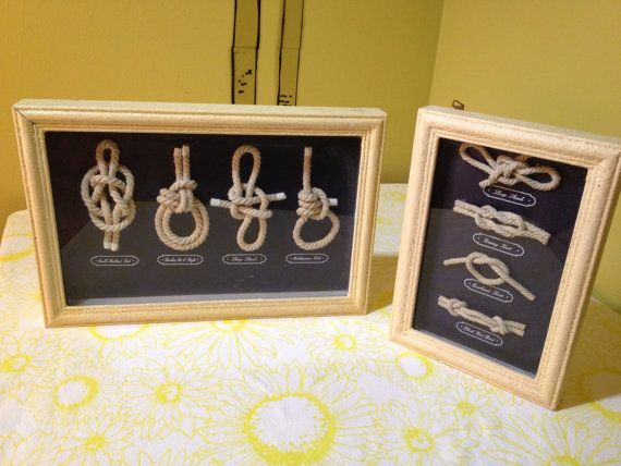 A pair of Vintage Rope Knots Box Frame by Blinkimage on Etsy, $35.00
