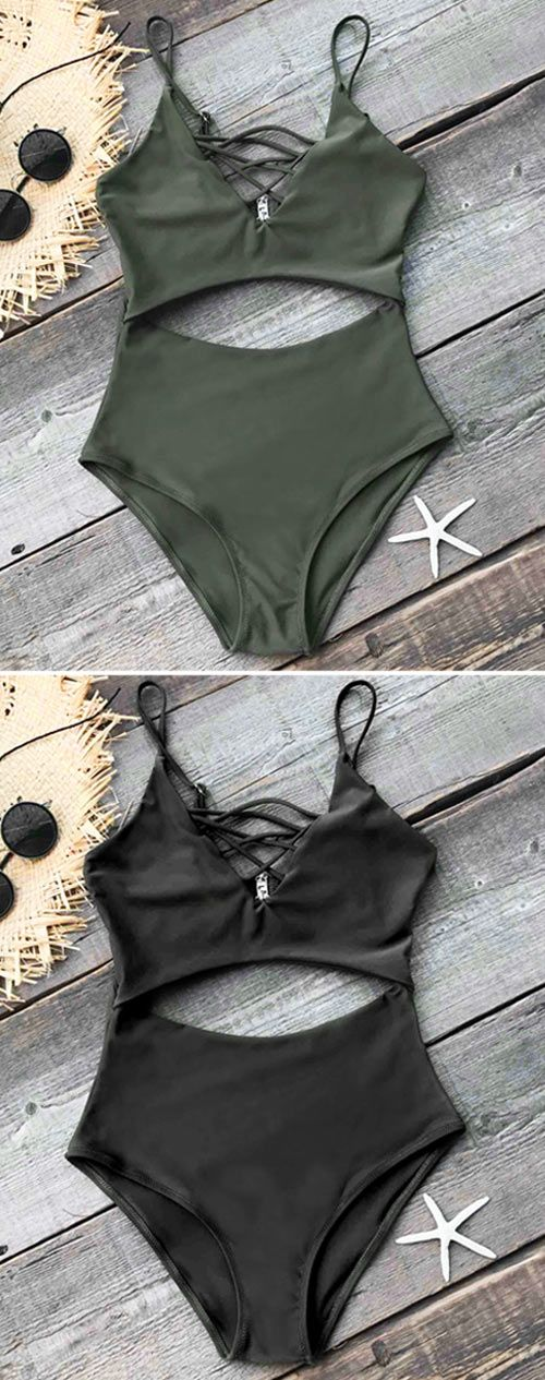 Give yourself a peaceful rest on the beach. Timeless navy green & balck color! Hallow design with chic fabric. Feeling ocmfortable and confident all day long! catching all eyes at beach~ Free shipping & Shop now!