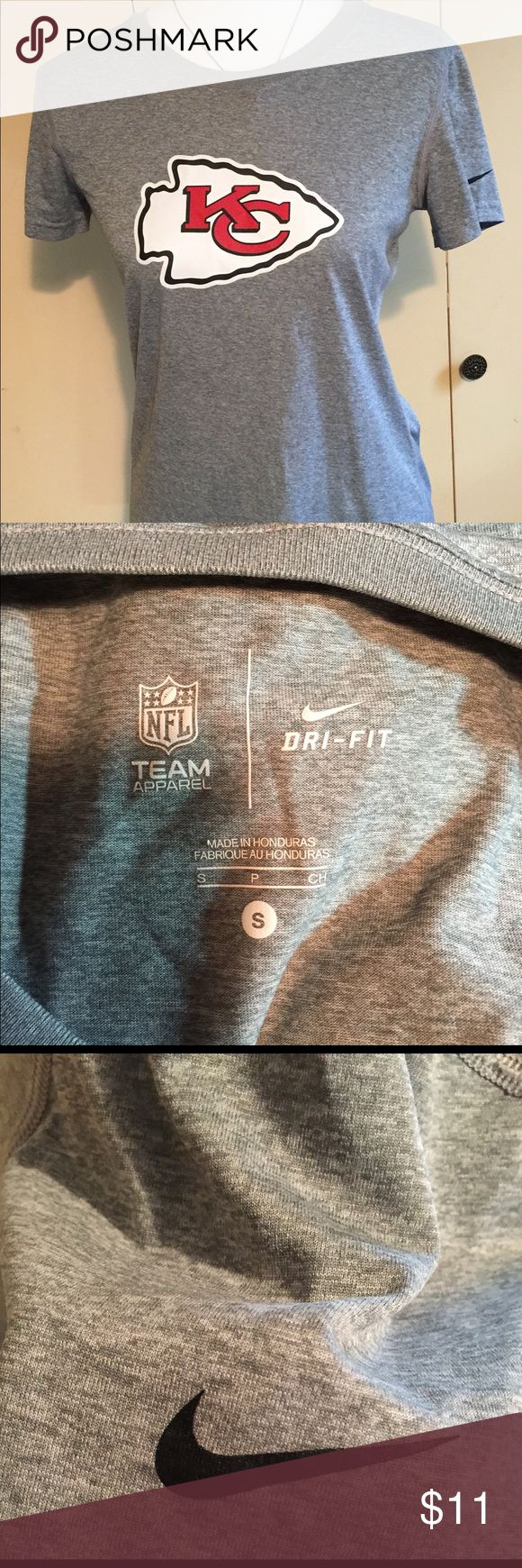 Nike KC Chiefs Dri-Fit ladies size S tee shirt Nike Brand KC Chiefs Dri-Fit ladies size Small short sleeved t shirt - perfect Nike NFL Team Apparel Tops Tees - Short Sleeve