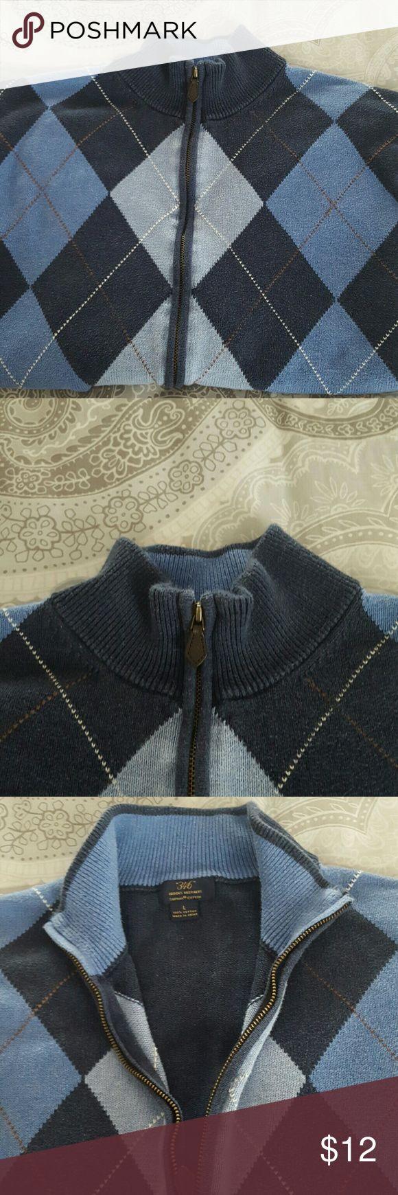 Brooks Brothers sweater Full zip Argyle Brooks Brothers sweater Brooks Brothers Sweaters Zip Up