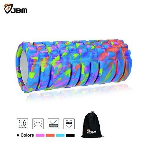 JBM Foam Roller (4 colors) Muscle Roller High Density Deep Tissue For Relieving Muscle Tension Soreness Rollers Help Muscle Stretch Physical Therapy Myofascial Release (Blue)