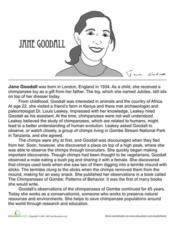 jane goodall biography will have on and anthropology. Black Bedroom Furniture Sets. Home Design Ideas