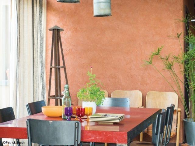 Peinture enduit naturel rouge argile