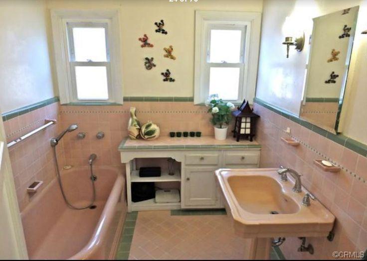 Retro Badezimmer, Spanisch, Vintage Stil, Haus, Bild, Bungalow