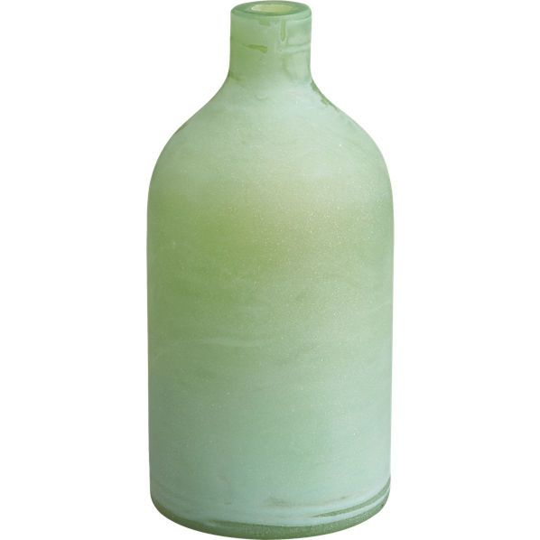 CB2 - DINING ROOM 9.95 frosted green bottle
