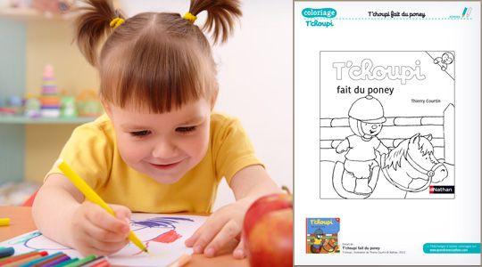 Coloriage tchoupi avec son poney idees pour la creche coloriage tchoupi coloriage et tchoupi - Tchoupi et le poney ...