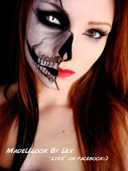 self taught makeup done with eyeshadow and eyeliner by alexys fleming - Where Can I Get Halloween Makeup Done