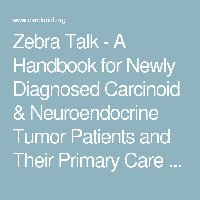 Zebra Talk - A Handbook for Newly Diagnosed Carcinoid & Neuroendocrine Tumor Patients and Their Primary Care Physicians - Carcinoid Cancer Foundation