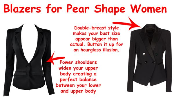Flattering blazers for pear shapes (guide)
