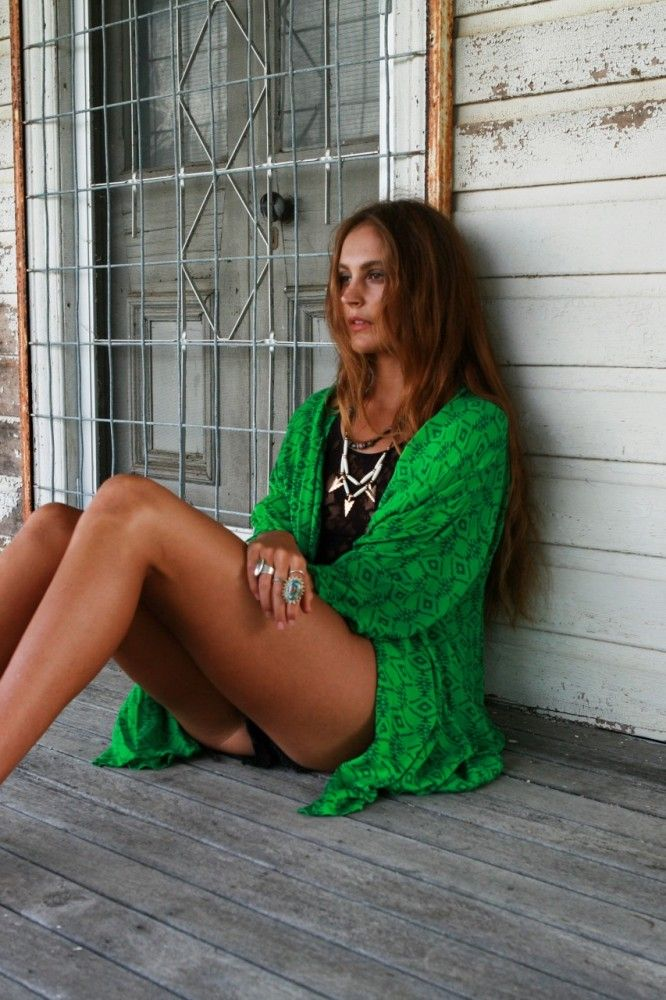 It's all about the Kimono! Kamisha Kimono - Green Sahara - Arnhem Clothing