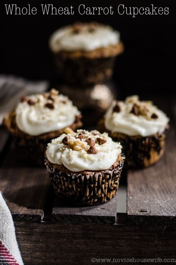 Whole wheat carrot cupcakes | cakes and cupcakes | Pinterest