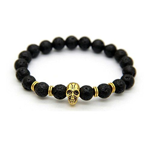 Koky Lava Stones Beaded Stretch Bracelet with Skull Head for Men (gold-plated-base) Koky http://www.amazon.com/dp/B01A8Y1GO6/ref=cm_sw_r_pi_dp_96sJwb197KBTB