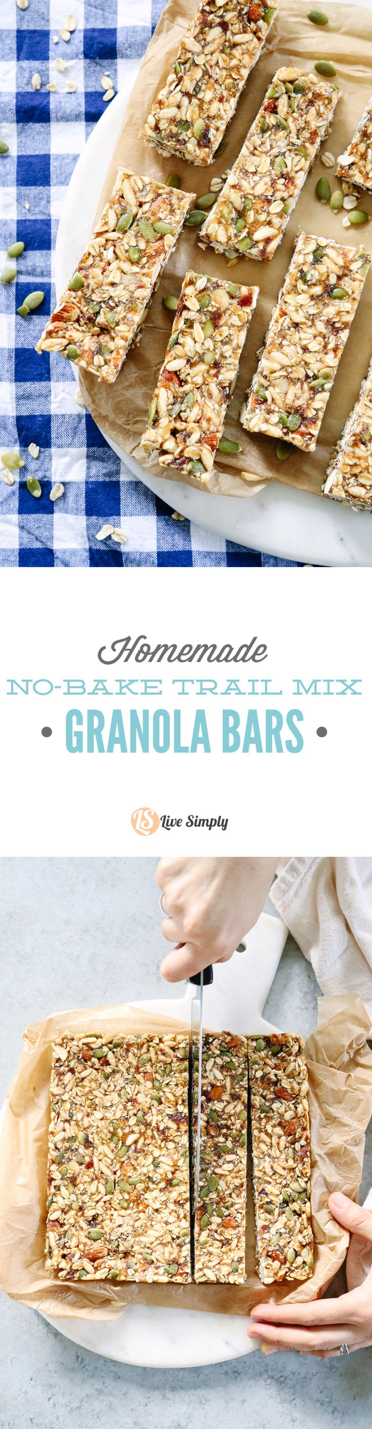 So good! The best granola bars I've ever made: salty, sweet, and chewy. And they stick together...yay! 100% real food ingredients.