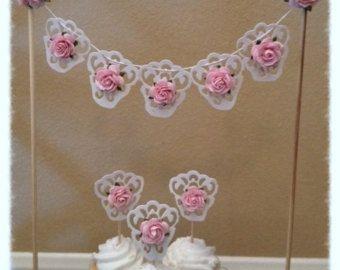 Verjaardag feest decoratie Shabby chique Banner voor door JeanKnee