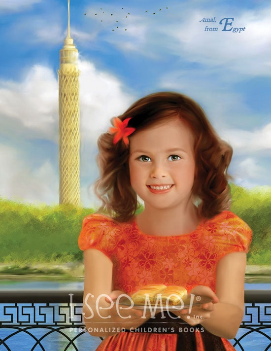 "Egypt - As featured in ""My Very Own World Adventure"" personalized children's book by I See Me!"