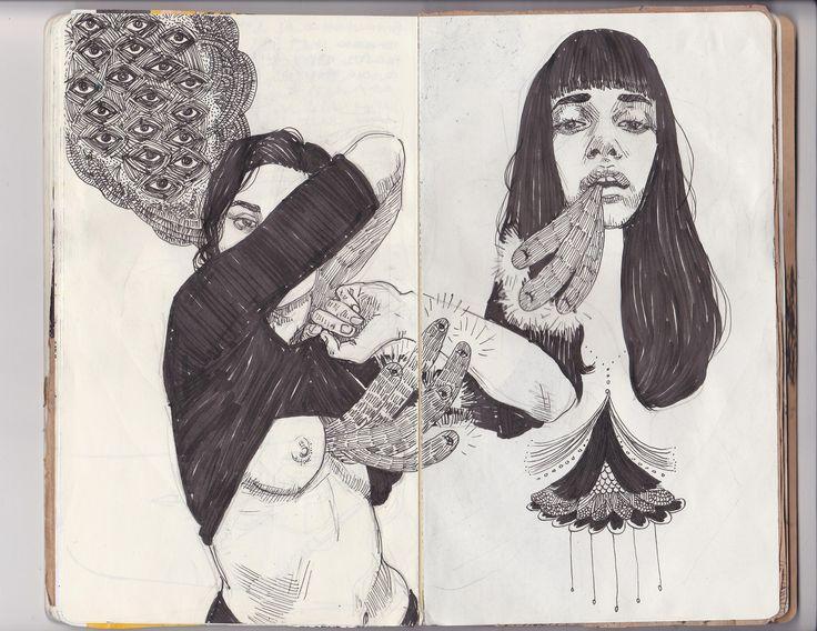 https://flic.kr/p/ehpX5P | art journal pages 63-64