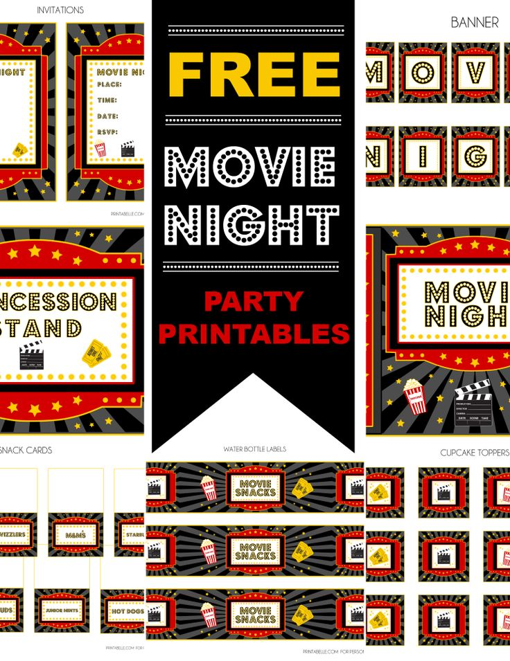 Free Movie Party Printables + Extras!