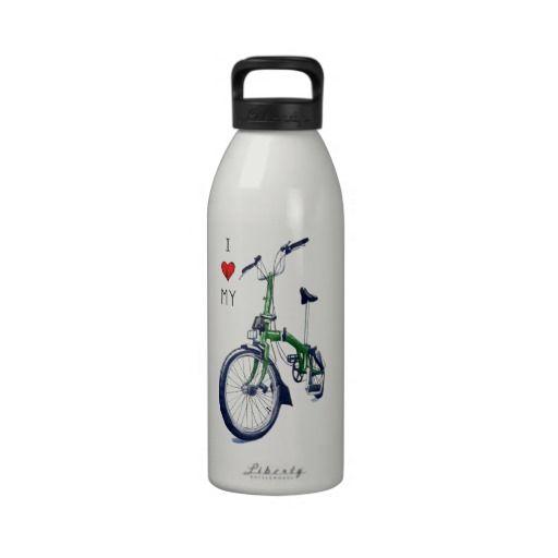 I heart my Brompton (green) Water Bottles