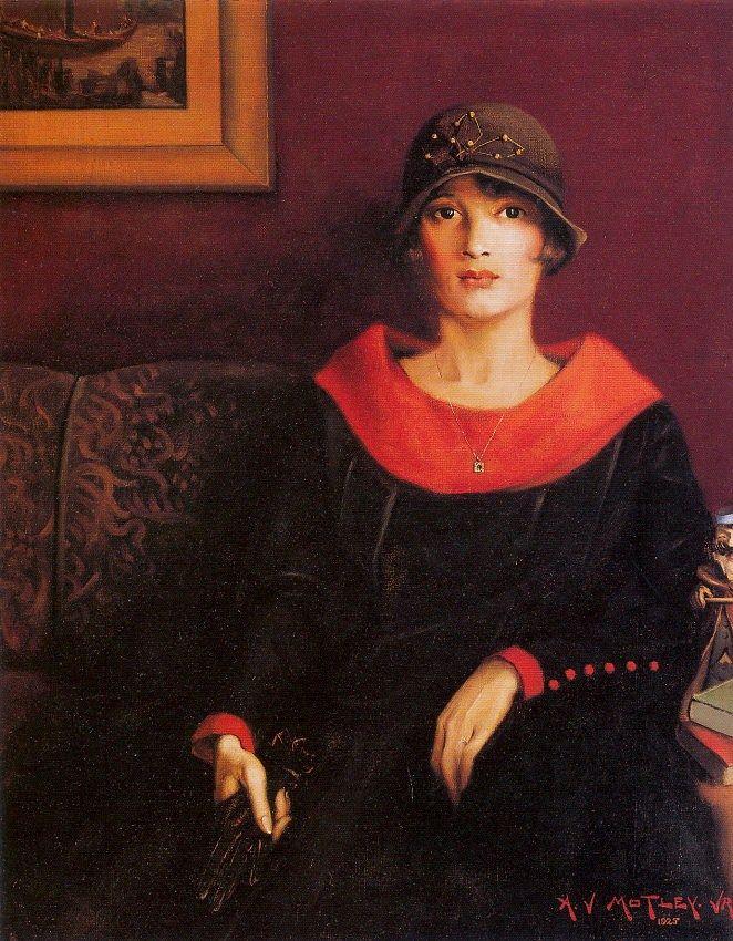 Palette?   Archibald John Motley, Jr (American Harlem Renaissance painter, 1891-1981). The Octoroon Girl, 1925.