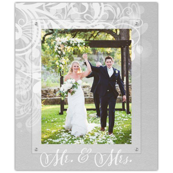 Mr And Mrs Wedding Picture Frame 11x14 Portrait Photo Frame Floating Picture Frames Floating Photo Frames Wedding Picture Frames Gallery Wall Frames Floating Picture Frames