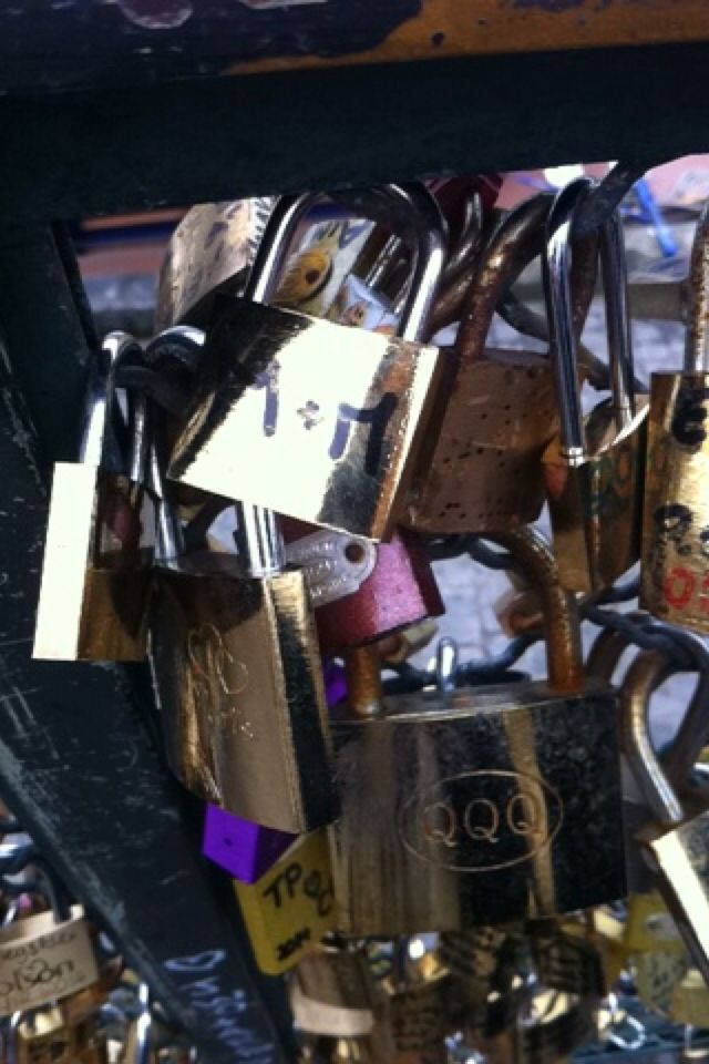 "Our love lock ""M&M"""