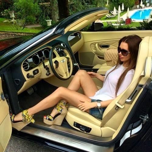 sexy legs in car