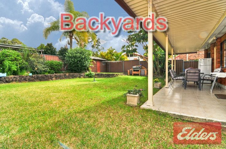 49 Columbia backyardbs, Seven Hills NSW homes for sale Seven Hills NSW Backyards form homes we have sold in our local area through our Elders Real Estate Agency to help you with your own Backyard ideas. This will also help you get a feel for the area. Go to for more information about the area http://www.elderstoongabbie.com.au/ or call us on 02 9896 2333