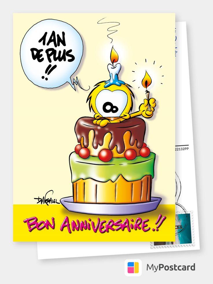 Le Piaf 1 an de plus Birthday Cards & Quotes