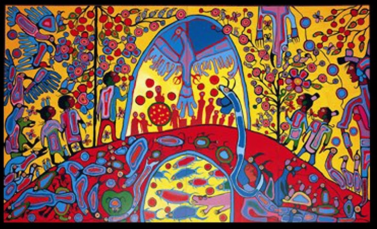 >>> Norval Morrisseau Facts, Articles & Art: Androgeny (1983) by Norval Morrisseau in Rideau Hall