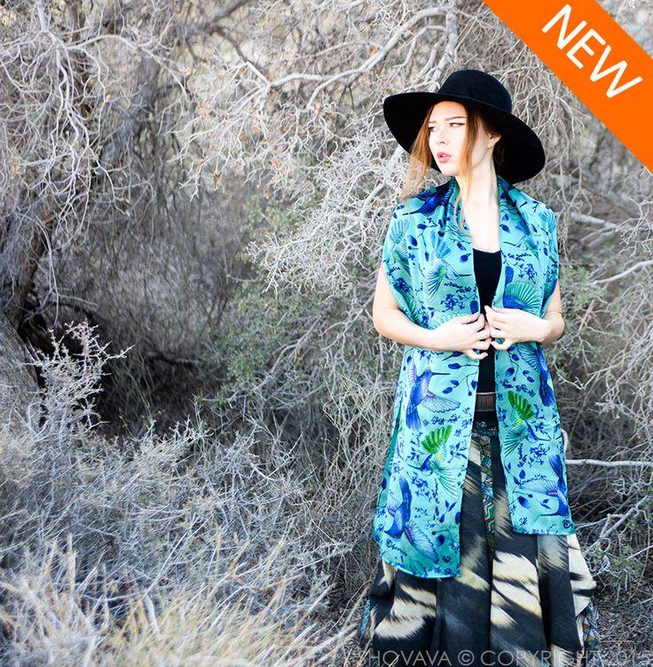Long Shawl, Silk Bandana Scarf, Hummingbird Scarf, Turquoise Scarf, Silk Wrap, Painted Silk Scarf, Bird Shawl, Maxi Scarf, Long Bandana by Shovava on Etsy https://www.etsy.com/au/listing/252601756/long-shawl-silk-bandana-scarf