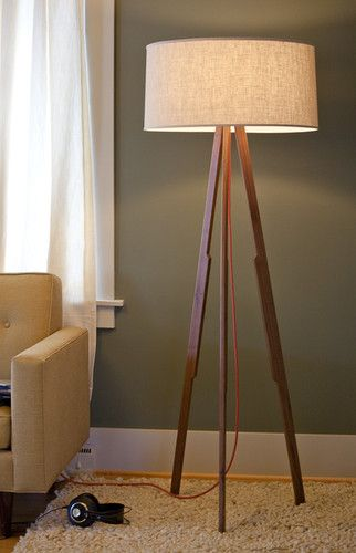 Mid-century Modern exact lamp at COUCH in Ballard with red cord