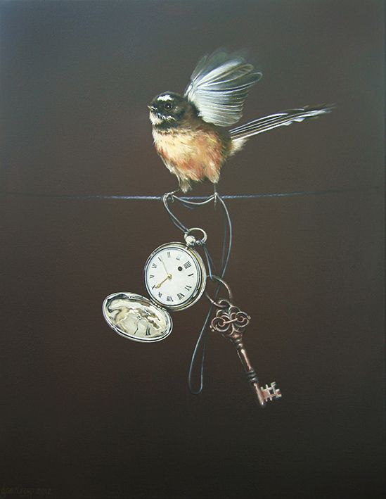 Time for Change - a delightful fantail (Piwakawaka) by Wellington artist Jane Crisp.  Available as art-prints from www.imagevault.co.nz