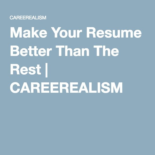 Recruiters Look At Resumes All Day. Once They See Something They Donu0027t  Like, It Will Be Thrown Out. Hereu0027s How To Make Your Resume Better Than The  Rest.