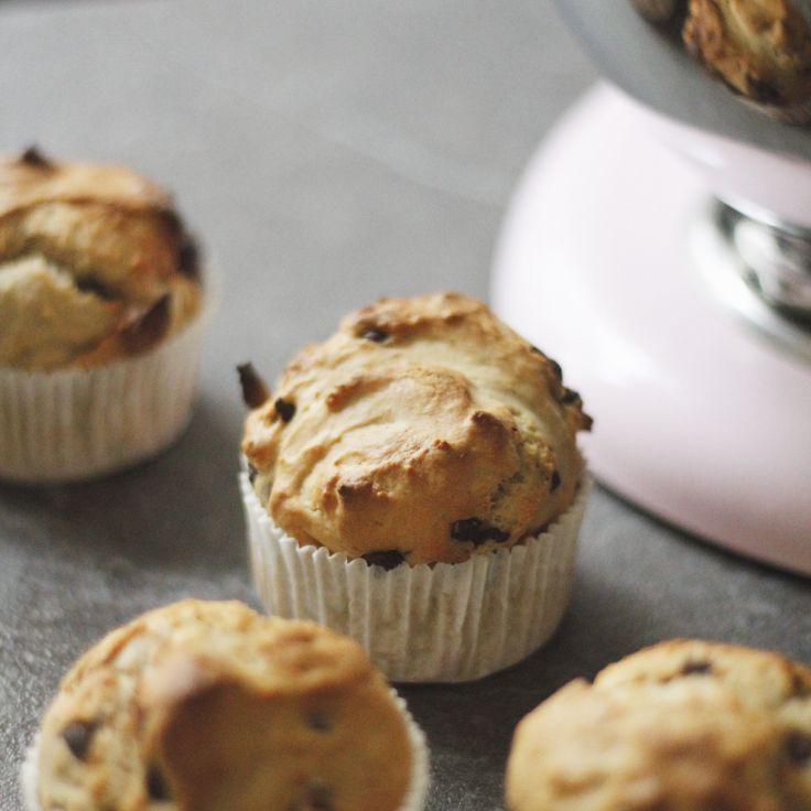 Muffins aux pépites de chocolat, de Doriane