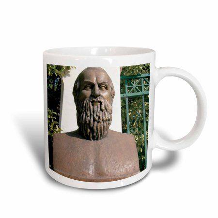 3dRose Aeschylus, Classical Athens Bust, Statue, Athens, Greece - HI02 PRI0000 - Prisma, Ceramic Mug, 15-ounce
