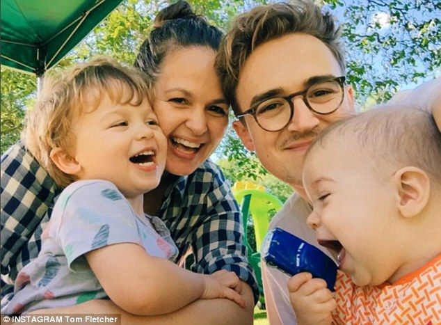 Too cute: Tom Fletcher posted a gorgeous family portrait ahead of his McFly tour, this week
