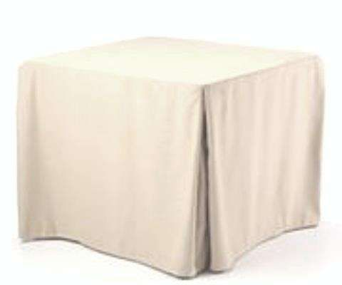 Faux Burlap Fitted Tablecloth