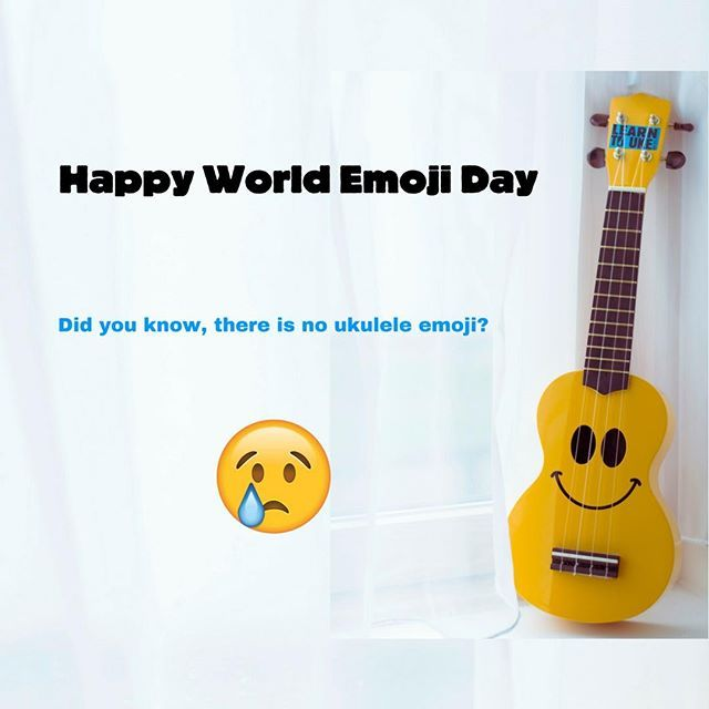 Happy World Emoji Day Did You Know There Is No Ukulele Emoji World Emoji Day World Emoji Emoji