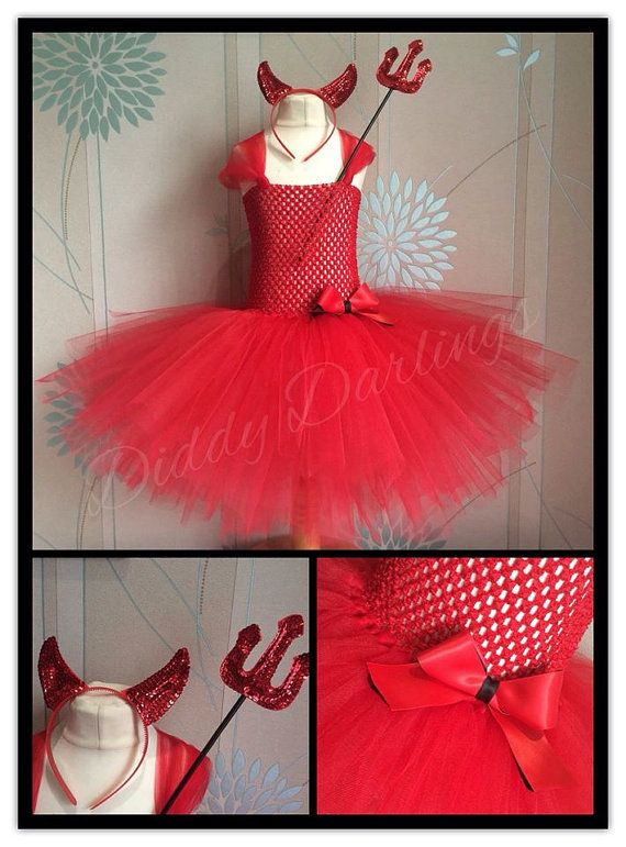Red Devil Tutu Dress. Halloween Tutu Dress. by DiddyDarlings