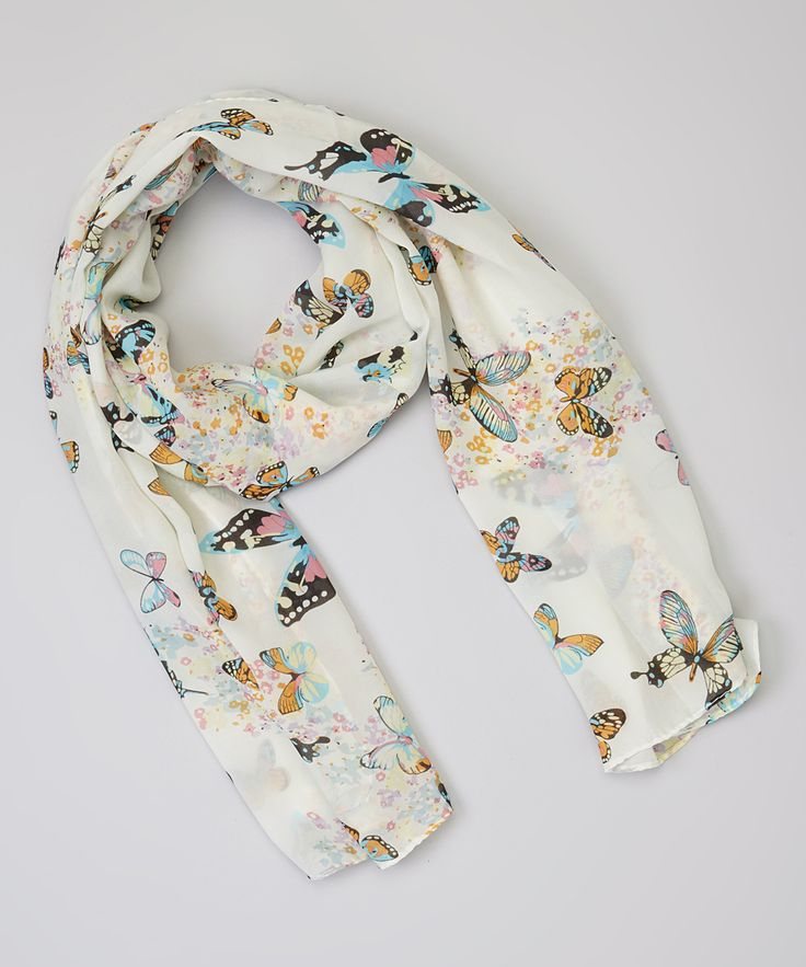 White Butterfly Scarf | Daily deals for moms, babies and kids - inspired fashion from Kiki magazine Feb/Mar 2015 issue