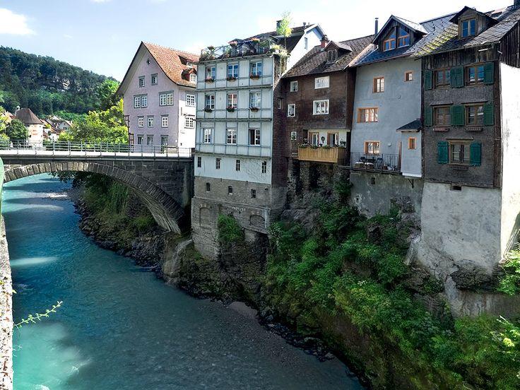 PHOTO: Heiligkreuz Bridge and Cliff Houses in Feldkirch, Austria
