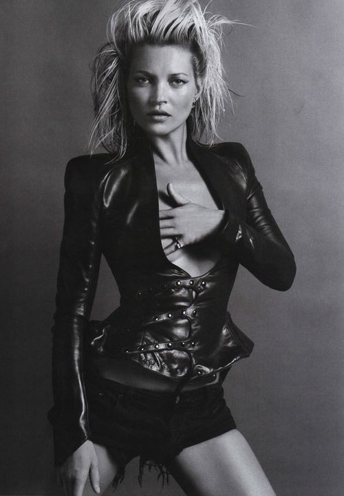 VOGUE PARIS: Kate Moss by Inez and Vinoodh.  Caption: Where's my Harley?