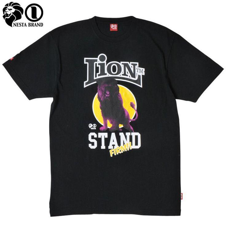 "【NESTA BRAND】【ネスタブランド】Tシャツ ""STANDING LION"" ブラック S-2XL【Tシャツ】【ラスタ】【レゲエ】【ライオン】【nestabrand】【Rasta】【半そで】【半袖】【黒】【black】【春物】【tshirts】【TS1203H】【あす楽】【楽天市場】"