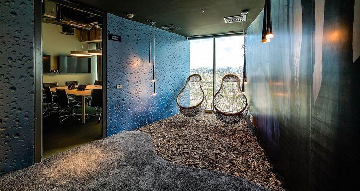Google Office Tel Aviv | Informal Meeting Area - Identity: Dream & Fantasy #GoogleTelAviv, #Office, #WallGraphics