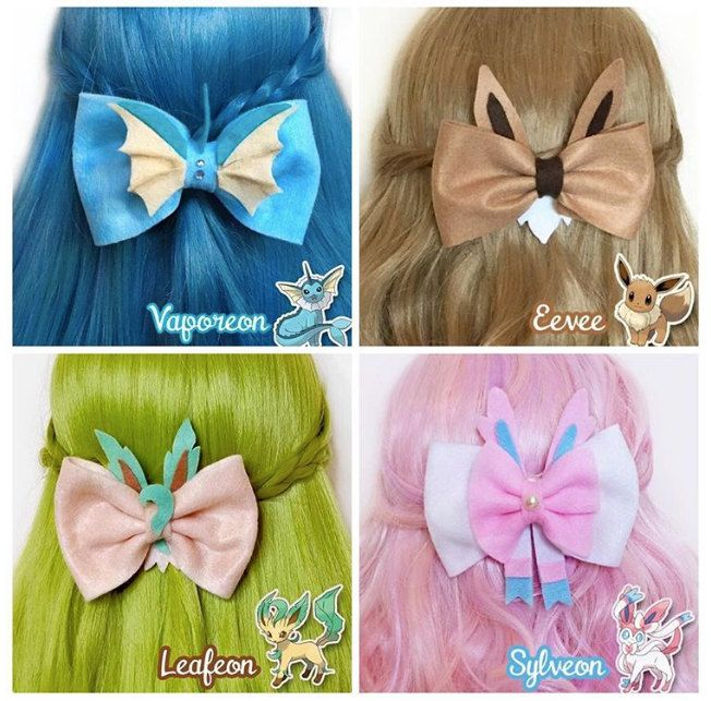 Pokemon Hair Bows - Click and check it out!