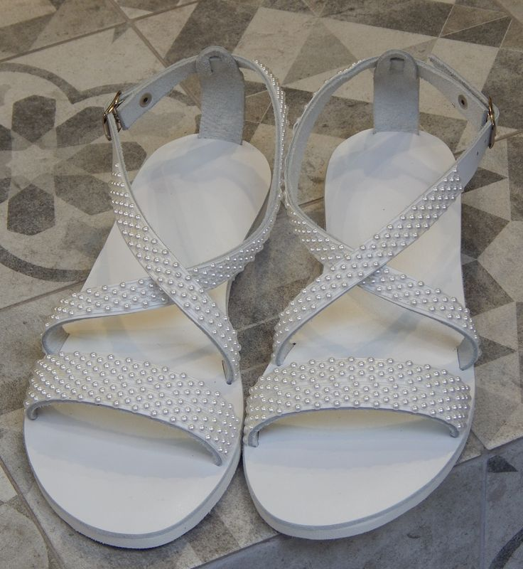 Handmade leather wedding sandal IOLI ..... Romba's .....