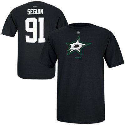 Reebok Tyler Seguin Dallas Stars Black Name and Number Player T-Shirt