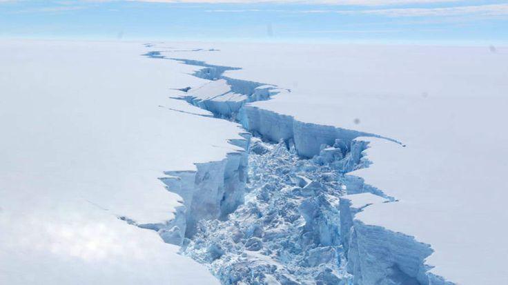 Larsen C, a trillion-tonne iceberg, has broken off the Antarctic shelf. (British Antarctic Survey)
