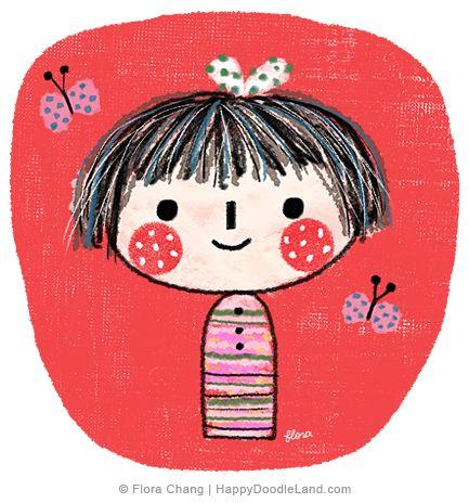 Kokeshi   Flora Chang, Happy Doodle Land