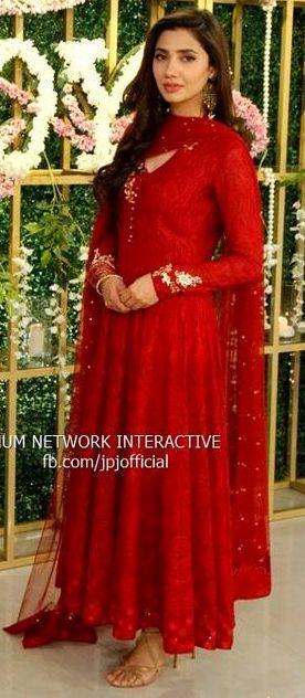 Mahira Khan Red Dress